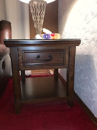 Wood side table comes with glass top Norwalk, 06851