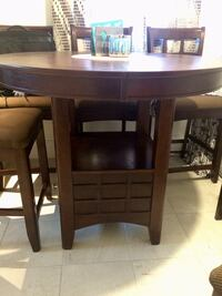 Pub style dining set with 6 chairs - must go