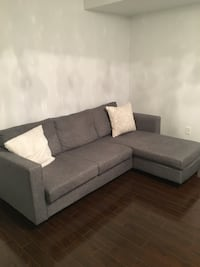 Gray fabric sectional sofa Mississauga, L5M