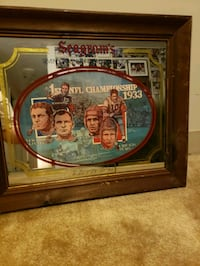 Seagrams 7 crowns of sports 1933 chicago bears mirror 1st nfl champion