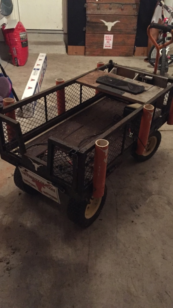 Used Black homemade utility trailer for