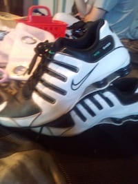 pair of white-and-black Nike basketball shoes Shawnee, 74804