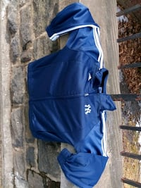 blue and white Under Armour zip-up hoodie Bronx, 10458