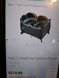Graco Twin pack and play with Bassinet Baltimore, 21224
