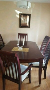 rectangular brown wooden table with chairs dining set Milton, L9T 6P6