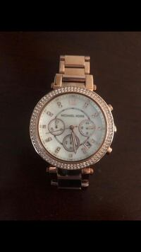 round silver Michael Kors chronograph watch with silver link Annandale, 22003
