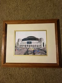 St Louis blues heavy framed picture Evansville