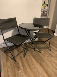 Black bistro patio set Toronto, M3A 2A2