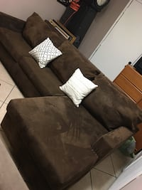 Dark brown sectional couch 2256 mi