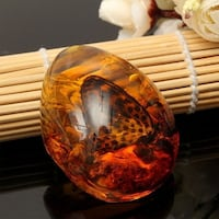Beautiful Natural Rosin Butterfly Insects Stone Pendant Boulder