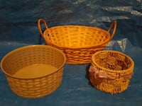Nice wicker and plastic baskets