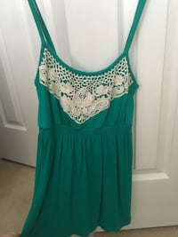 Turquoise Embroidered Tank Top Ellicott City, 21043
