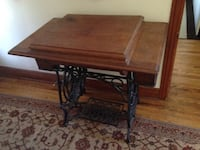 Brown wooden drop leaf table Toronto, M9M 1B7