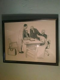 Norman Rockwell pencil drawing Lake Worth, 33461