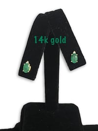 14k emerald earrings  Alexandria, 22304