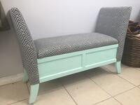 Refinished vintage storage entryway bench