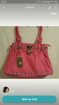 women's red leather handbag Edmonton, T6L 6L7