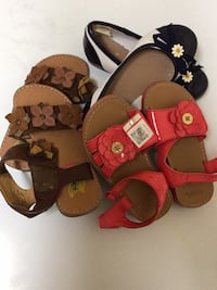 toddler's two pairs of sandals