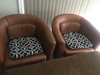 Comfy brown leather chairs  Ashburn