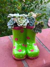green-and-pink floral boots Spring Valley, 91977