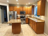 Oak Kitchen cabinets and countertops for sale