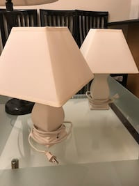 Pair of lamps for side table