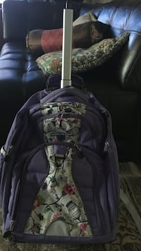 purple and white floral backpack Sterling, 20164