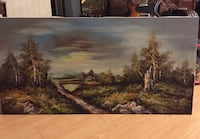 """LARGE SIGNED ART ORIGINAL OIL PAINTING SIGNED BY ARTIST (48 """" X 24"""") OIL ON CANVAS Glendale, 91203"""