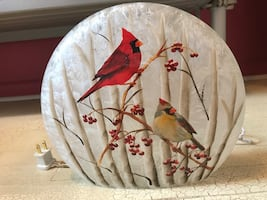 Decorative Cardinal Glass Lamp