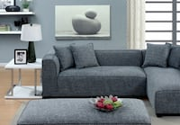 Grey Sectional with matching Ottoman/sleeper
