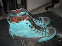 European Salamander Soft Leather Hi-Tops Fashion Shoes Winnipeg