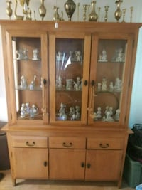 brown wooden framed glass display cabinet Santa Barbara, 93105