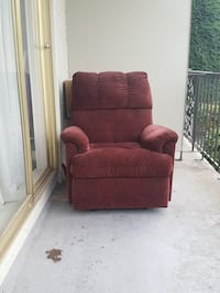 red fabric recliner chair Burnaby, V5E 4N7