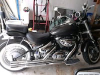 black and gray cruiser motorcycle 364 mi