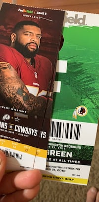 Redskins vs Cowboys Frederick, 21703