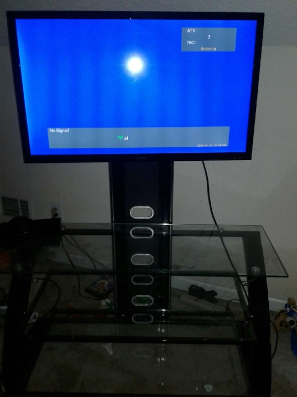 Used 38 Inch Led Insignia Flat Screen With Tv Stand For Sale In