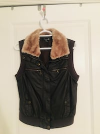 Motorcycle Vest With Fur - Size L