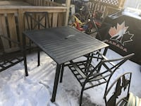 Outside furniture 4 chairs 3 cushions and table  Edmonton, T5L 0V5