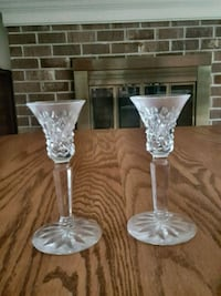 Vintage crystal candle holder set  Columbia