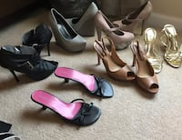Black size 6   Grey size 5  light brown with snake size 5 1/2 black and pink size 6 1/2 brown size 5 gold size 5 Martinsburg, 25404