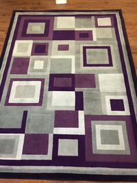 Purple, white, and black area rug Chicago, 60632