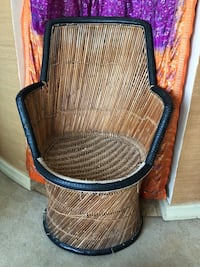 Indian Cane Chair with Tire Rim Los Angeles, 90034