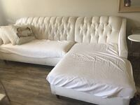 Ivory couch with chaise, great for reupholstering San Diego, 92104