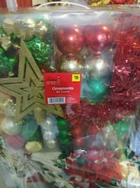 New Ornaments 84 count box of assorted Mission, 78574
