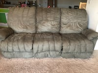 Sage color fabric 3-seat sofa 19 mi