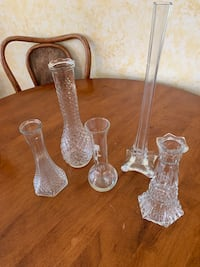 4 Lovely Glass Bud Vases - Different Styles and Sizes Kirkwood, 63122