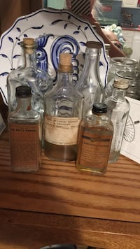 Antique vintage old glass bottles with advertising on them  Innisfil, L9S 3N8