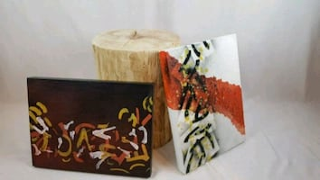 Set of 2 paintings on canvas