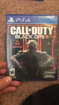 Call of Duty Black Ops III PS4 game case Fresno, 93722