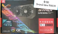 Brand New ASUS RX570 4gb OC Edition Vaughan, L4L 8K5